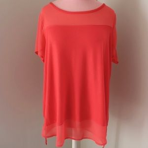 Vince Camuto Blouse w/ Chiffon Yoke and Hem